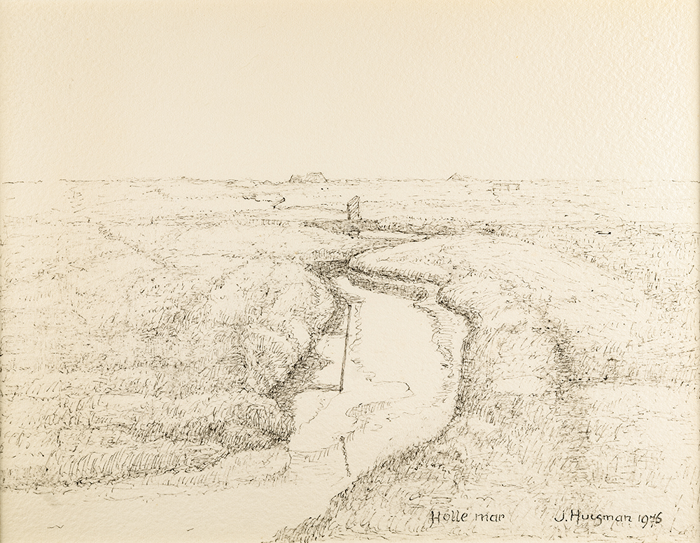 Canvas - Landschap bij de Holle Mar 1976